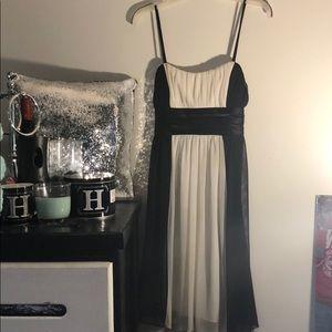 Black and White Spaghetti Strap Dress